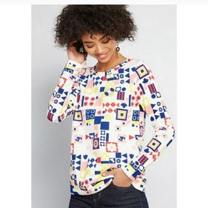 Modcloth Motif Appreciation S Small Sweatshirt